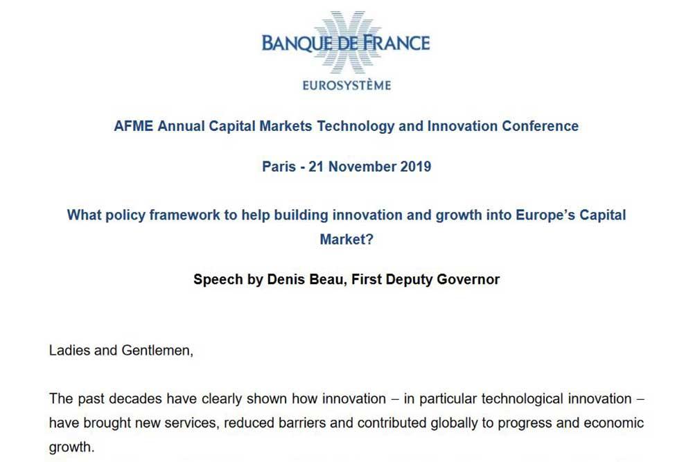 AFMEキャピタルマーケット技術改革カンファレンス