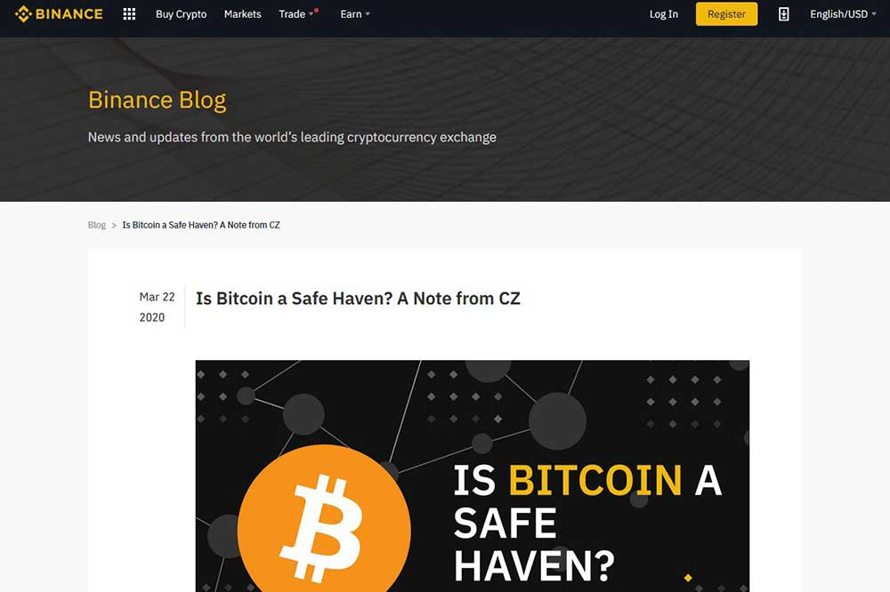 BINANCE blog