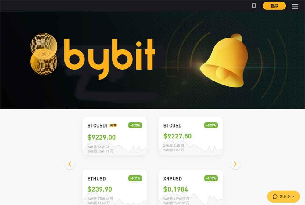 bybit公式サイトページイメージ