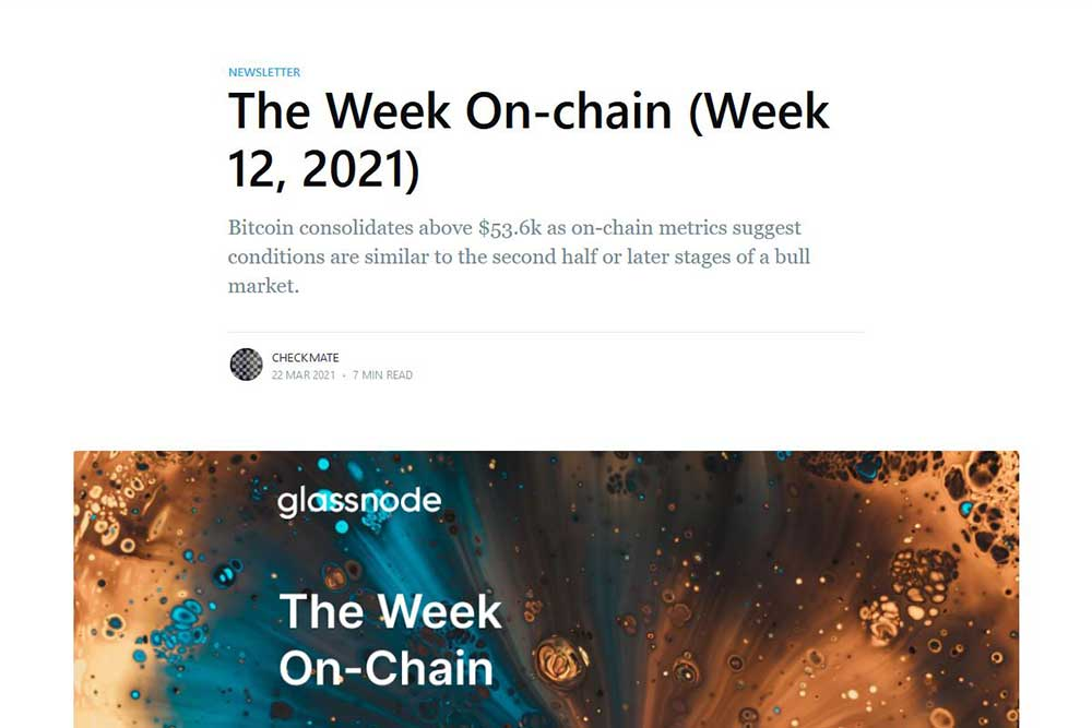 Glassnode The Week On-Chain 12,2021