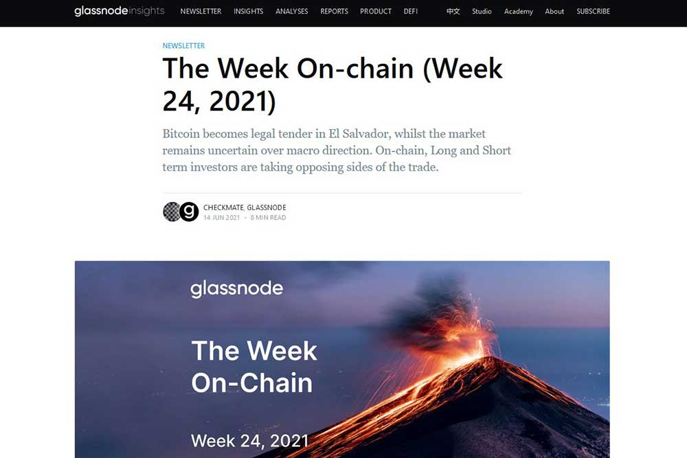 Glassnode「The Week On-chain」2021.24